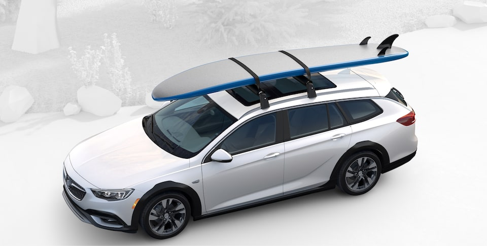 2020 Buick Regal TourX Luxury Wagon Roofrails with Paddle Board