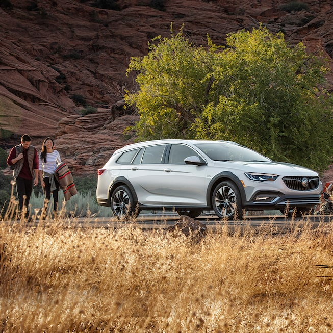 2020 Buick Regal TourX Luxury Wagon Passenger Side Angle View