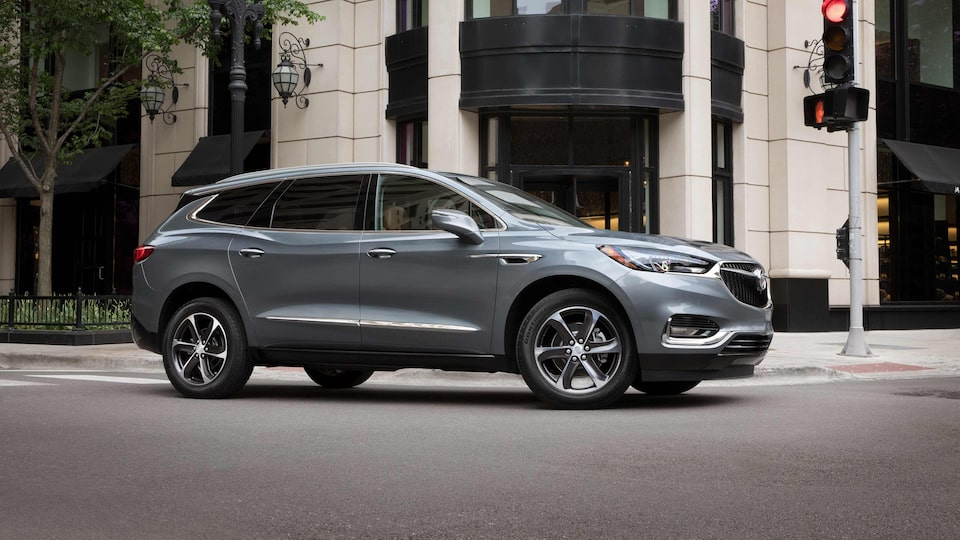 2020 Buick Enclave mid-size Luxury SUV Gallery Exterior front side house view