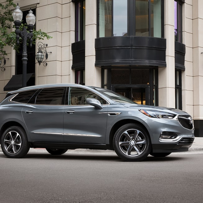 2021 Buick Enclave mid-size Luxury SUV Gallery Exterior front side house view