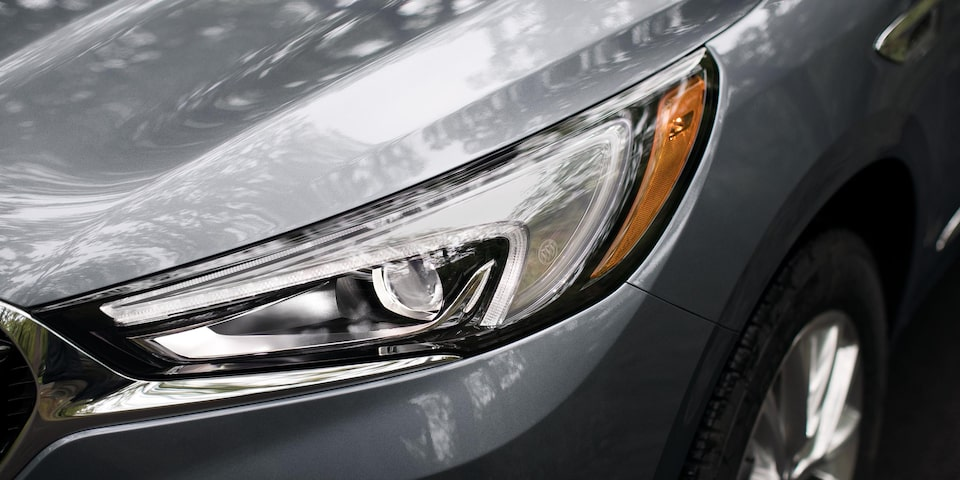 2020 Buick Enclave Mid Size SUV Headlight Close Up