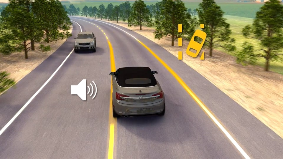 2021 Buick Encore Small SUV Lane Keep Assist Safety Feature