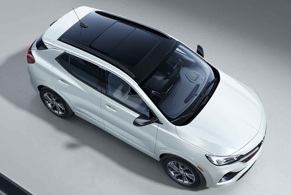 2021 Buick Encore GX ST Sporty SUV aerial exterior view