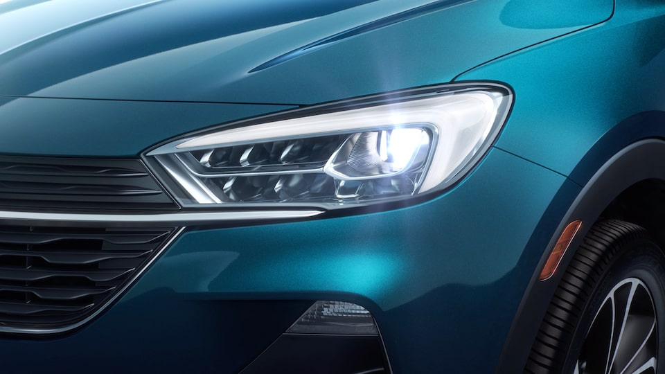 2020 Buick Encore GX Small SUV headlamps close up