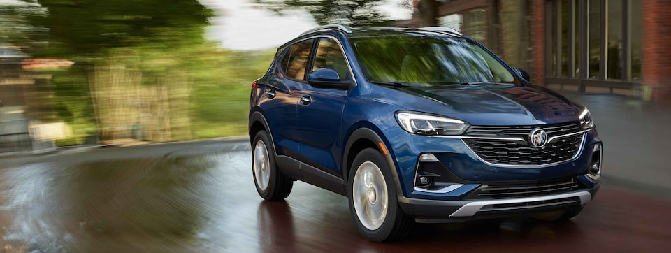 2021 Buick Encore GX Small SUV driving angle shot