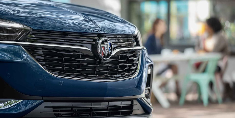 2020 Buick Encore GX Small SUV front grille close up