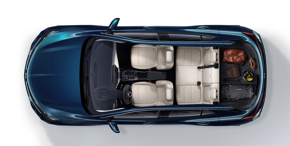2020 Buick Encore GX Small SUV aerial view of luggage in rear cargo space