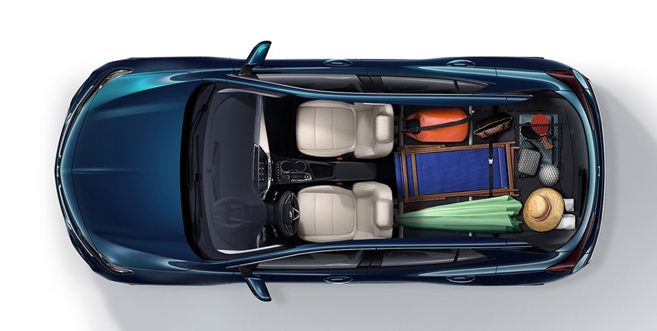 2020 Buick Encore GX Small SUV aerial view of beach gear in rear cargo space