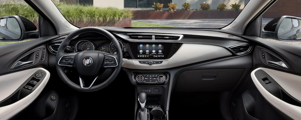 2020 Buick Encore GX Small SUV front interior dashboard view