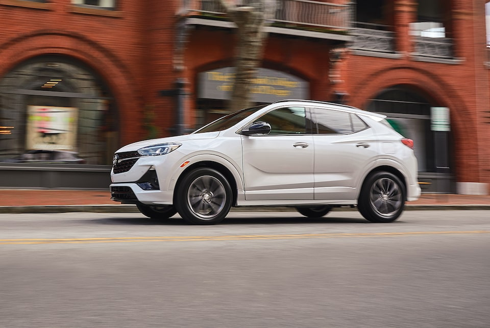 2020 Buick Encore GX Small SUV Driving on street