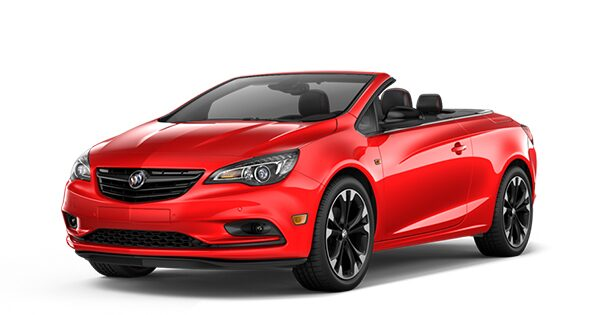 Jellybean image showing the 2017 Buick Cascada luxury convertible in sport red.