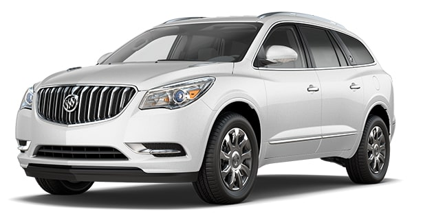 Jellybean image showing the 2017 Buick Enclave mid-size luxury SUV in white frost tricoat.