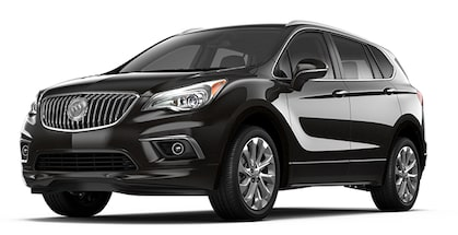 Jellybean image showing the 2017 Buick Envision small luxury SUV in ebony twilight metallic.