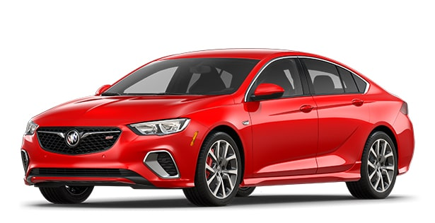 Jellybean image showing the 2018 Buick Regal GS luxury sedan in sport red.