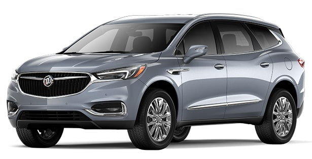 Jellybean image showing the 2018 Buick Enclave mid-size luxury SUV in satin steel metallic.