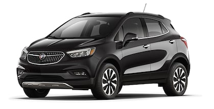 Jellybean image showing the 2018 Buick Encore compact luxury SUV in ebony twilight metallic.