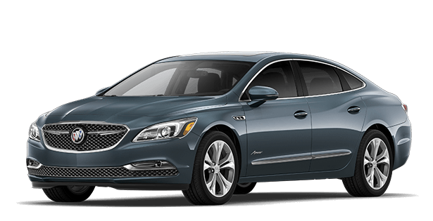 Jellybean image showing the Avenir trim for the 2019 Buick LaCrosse full-size luxury sedan.